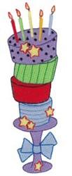 Crazy Birthday Cake embroidery design