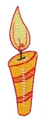 Striped Birthday Candle embroidery design