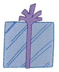 Blue Birthday Gift embroidery design