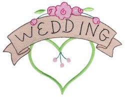 Wedding Heart & Roses embroidery design