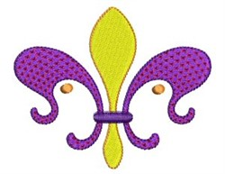 Purple Fleur De Lis embroidery design