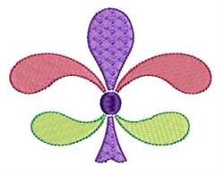 Pastel Fleur De Lis embroidery design