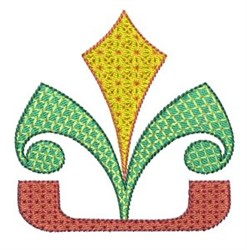 Geometric Fleur De Lis embroidery design