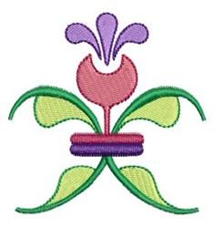 Floral Fleur De Lis embroidery design