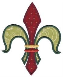 Decorative Applique Fleur De Lis embroidery design