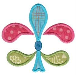 Pastel Applique Fleur De Lis embroidery design
