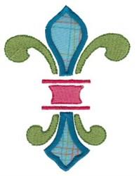 Applique Fleur De Lis embroidery design