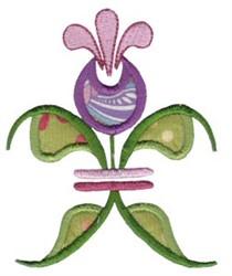 Floral Applique Fleur De Lis embroidery design