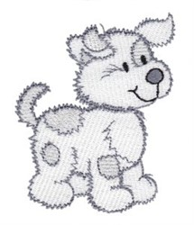 Cute Cartoon Puppy embroidery design