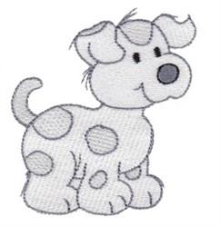 Adorable Cartoon Puppy embroidery design