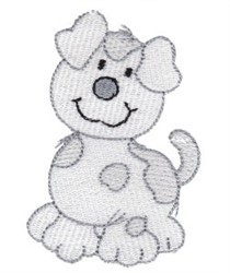 Cartoon Puppy Dog embroidery design