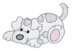 Playful Cartoon Puppy embroidery design