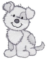 Sweet Cartoon Puppy embroidery design