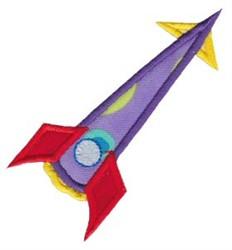 Rocket Ship Applique embroidery design