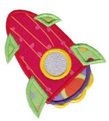 Space Ship Applique embroidery design