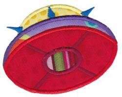 UFO Applique embroidery design