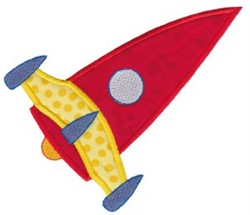 Rocket Ship Applique embroidery design