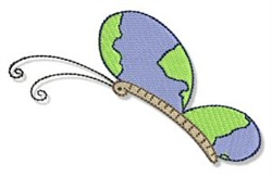 Earth Day Butterfly embroidery design