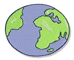 Earth Day Globe embroidery design