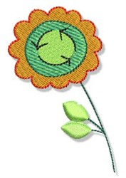 Earth Day Recycling Flower embroidery design