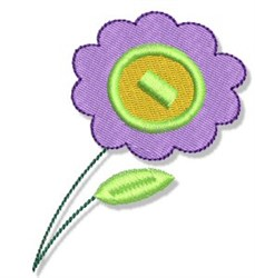Earth Day Flower embroidery design