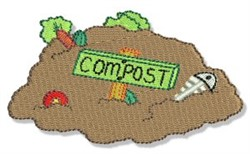 Earth Day Compost Pile embroidery design