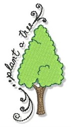 Earth Day Tree embroidery design