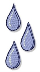 Earth Day Water Drops embroidery design