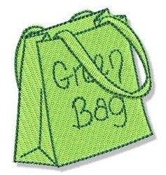 Earth Day Green Bag embroidery design