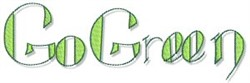 Earth Day Go Green embroidery design