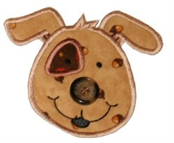 Button Nose  Puppy Applique embroidery design
