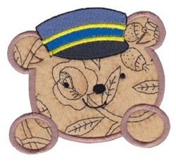 Teddy Bear Conductor Applique embroidery design