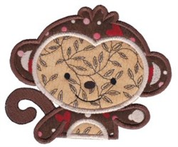 All Aboard Monkey Applique embroidery design