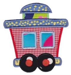 Train Caboose Applique embroidery design