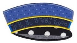 Conductor Hat Applique embroidery design