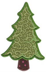 All Aboard Tree Applique embroidery design