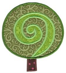 All Aboard Applique Tree embroidery design