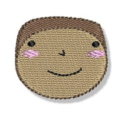 Happy Faced Black Boy embroidery design
