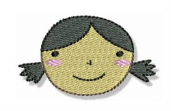 Pig Tailed Little Girl embroidery design