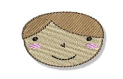 Happy Faced Little Boy embroidery design