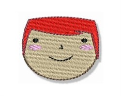 Red Head Little Boy embroidery design