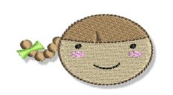 Braided Hair Little Girl embroidery design