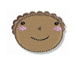 Black Little Girl Head embroidery design