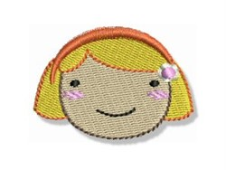 Happy Faced Blonde Girl embroidery design