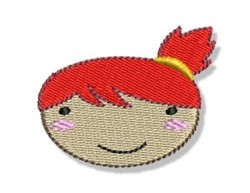 Red Haired Little Girl embroidery design