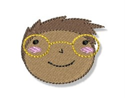 Little Boy & Glasses embroidery design