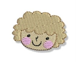 Cute Little Girl Face embroidery design
