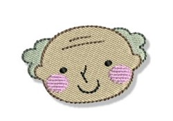 Happy Faced Grandpa embroidery design