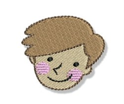Happy Faced Teenage Boy embroidery design