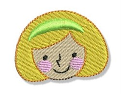 Happy Face Blonde Girl embroidery design